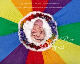 Rainbow Baby 1 - Digital backdrop Newborn Photography Prop download -  psd file with Layers