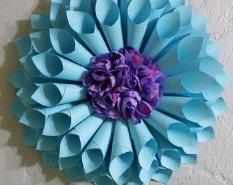 spring wreath, paper wreath