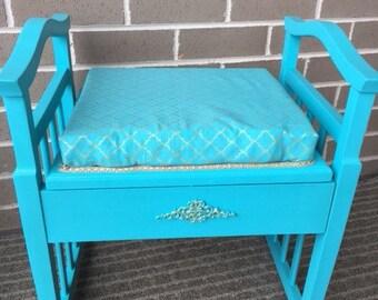Piano stool decorative storage seat