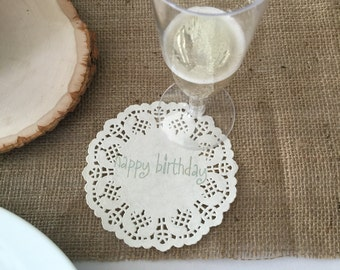 Shabby Chic Inspired Party Coasters