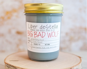 Big Bad Wolf - Red Riding Hood Inspired Candle - Book Candle - Book Gift - Book Lover - Bookish
