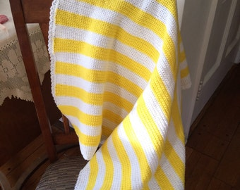 Bold stripe baby blanket