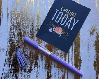 Tassel Gel Pen - Purple