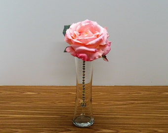 Handmade Single Bloom- Rose Floral Arrangement with Crown Jewel