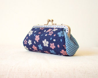 Frame Purse 10 cm / 4'' frame, girlfriend gift, mother's day gift, bridesmaid gift, cherry blossoms, kisslock purse, coin purse, portamonete