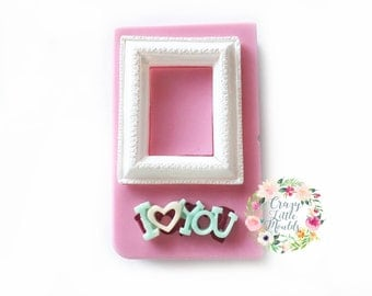 Frame with I Love You Silicone Mould