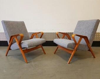 Set Of Two Armchairs by Tatra Nabytok Mid Century