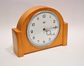 Antique Mantel Desk Collectible mechanical SCHZ СЧЗ Clock USSR,wood,rare