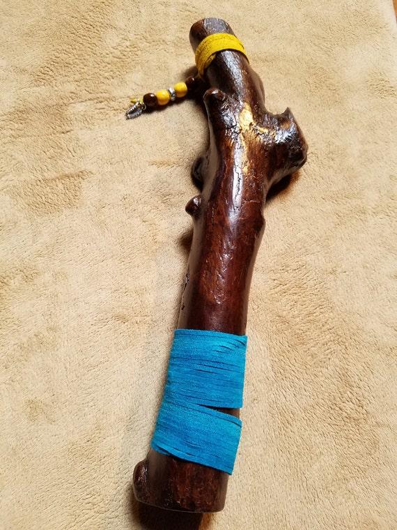 """Talking Stick - Wooden Talking Stick - Handmade Talking Stick - """"Five Medicine"""""""