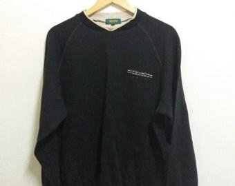 Vintage Kenzo sweatshirt spellout embroidered/black/large/kenzo golf/kenzo paris