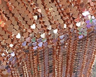 6mm Heart Shaped Hematite Beads, Gold Rose Hematite Beads, Hematite Jewelry
