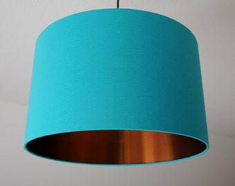 "Lampshade ""Light petrol-copper"""