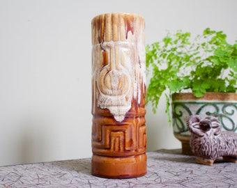 Kad Yad: Vintage Israeli Ceramic Vase in Fat Lava Style