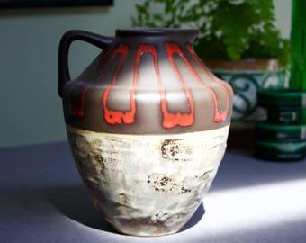 Steuler: Large Vintage Ceramic West German Fat Lava Vase  4321 - 1950s