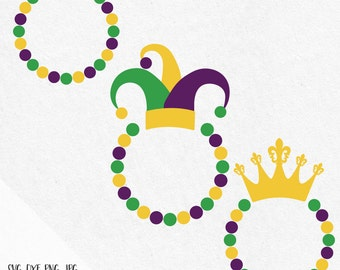 Mardi Gras monogram svg, Mardi Gras monogram crown svg, Fleur de lis svg, Mardi Gras carnival, svg files silhouette, svg files for cricut
