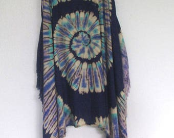Ladies Handmade Tie Dye Sundress Rayon Rainbow