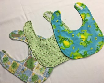 Set of 3 Baby Boy,  Bibs, Baby Gifts, Baby Showers, Baby Acessaries