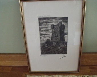 Milan Italy engraving indistinctly signed