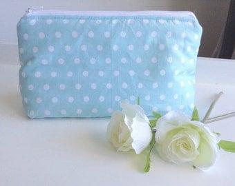 Makeup Bag, Cosmetics Bag, Cosmetic Bag, Make Up Bag, Toiletry Bag, Polkadots Fabric, Polkadot Gift, Gift For Mum, Gift for Woman