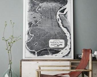 Philadelphia, Philadelphia Art, Philadelphia Map, Philly Love, Philly Skyline, South Philly, Philadelphia Skyline, 137