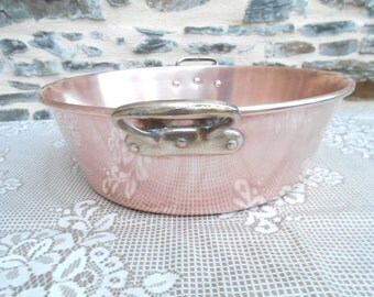 Vintage French COPPER Jam Pot.