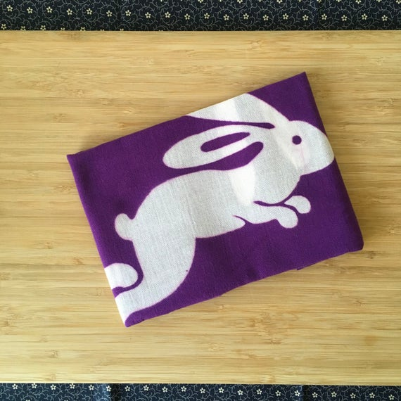 Kendo Tenugui, Japanese Cotton Tenugui - Rabbit Print from Kendo Girl