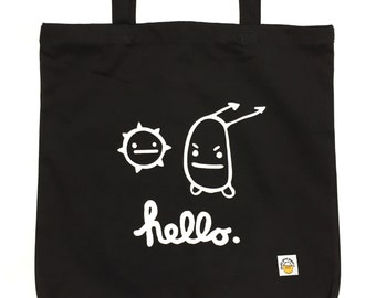 BACKORDERED Hello Black Tote