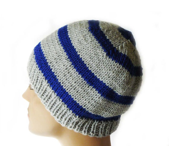 Knitting PATTERN Knit Beanie Pattern Mens Knit Hats