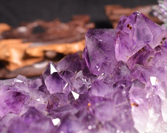 Best Large Natural Amethyst Cluster from Uruguay/Large Amethyst cluster/Amethyst geode-200*125*60mm 1816g-h93
