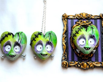 Frankenheart (brooch/necklace/frame - You choose!)