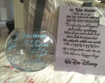 In this house inspired frame disney