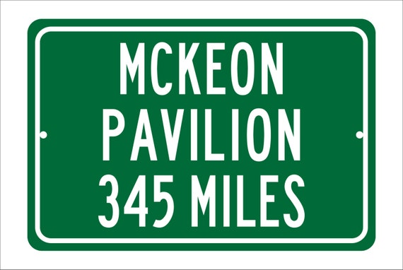 Custom College Highway Distance Sign to McKeon Pavilion | Home of the Saint Mary's Gaels | Gaels Basketball | Gaels | SMC