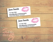 Pink Lips address labels DIY Mary Kay, AVON, Nu Skin, and others digital file download printable personalized