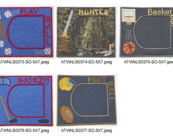 Sport-Frames ( 5 Machine Embroidery Designs from ATW )