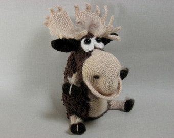 Crochet moose Crochet elk Amigurumi toy stuffed animal toy soft moose toy perfect gift Moose #z019