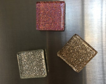 9 GLITTER GLASS MAGNETS