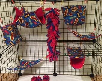 13 piece Sugar Glider cage set (pow!)