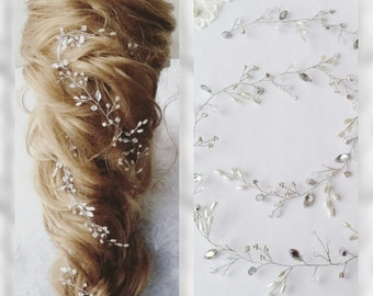 FREE SHIPPING All Summer !!!!Long hair vine,Crystals Bridal Wedding, Headband,Bridal Hair Vine,Wedding hair-vine,pearl hair vine 53