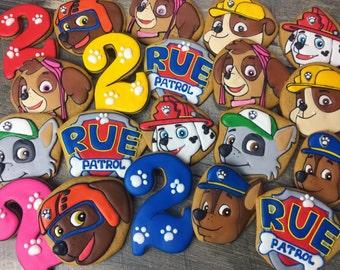 PAW PATROL cookies, Boys cookies, boys party cookies, pet cookies, dog cookies, paw patrol party, paw patrol party favors, pet party favors