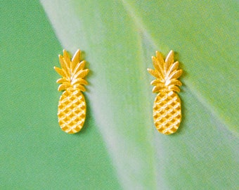 Gold plated PINEAPPLE earrings