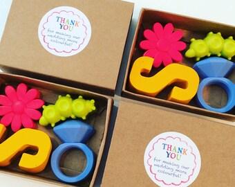 Children's wedding favours crayon packs