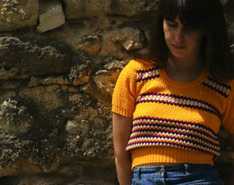 Mustard yellow 70's top