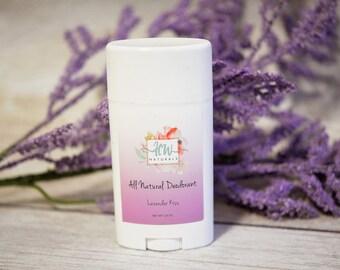 All Natural Deodorant (Lavender Kiss )- Organic Deodorant - Handmade Deodorant - Deodorant - Natural Deodorant - Natural Deoderant