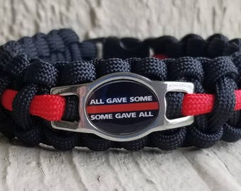 All gave some, Some gave all thin red line paracord bracelet