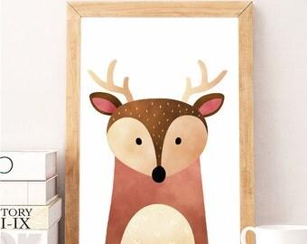Deer wall art ARTPRINTSFACTORY