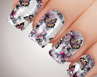 Butterfly Charm - ULTIMATE COLLECTION - Full Nail Decal Water Transfer Tattoo #5023