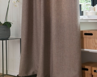 Curtain in luxury wool and real mink fur