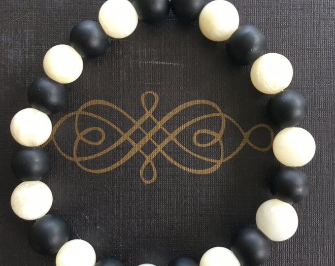 Opal & Black Onyx Bracelet