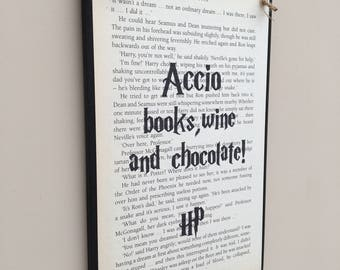 Harry Potter Book Inspired Wall Hanging Plaque, Merchandise, Picture, Sign, Various Designs, Bookish, Birthday Gift, Housewarming, New Home