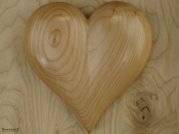 "Special Someone Gift | Carved Large ""Beautiful"" Wooden Heart 